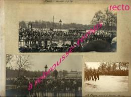 En 1914-photos Anciennes Lot 1 Sur 3-5 Photos-Visite Du Roi Georges V à Paris-troupes Militaires-palais Bourbon-foule - Guerre, Militaire