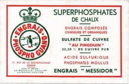 Buvard  Engrais Phospho-guano. Superphosphates De Chaux, Sulfate De Cuivre, Engrais Messidor. - Buvards, Protège-cahiers Illustrés