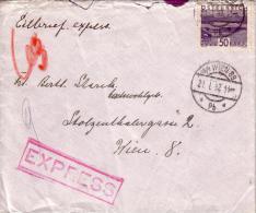 Brief  EXPRESS / EILBRIEF Von ZWETTL Nach WIEN Am 21.01.1932 - Covers & Documents