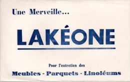 Buvard  Lakéone, Pour L'entretien Des Meubles, Parquets, Linoléums. - Produits Ménagers