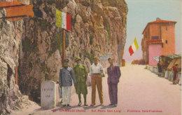 "1932 Grimaldi   ""Sul Ponte San Luigi "" ( Vintimille  Imperia )  Frontière Italo Françese - Dogana"