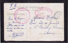 Carte - HOPITAL DU PETIT LYCEE DE SAINT-RAMBERT - Croix-Rouge De Montreux (Lot LG 14) - 1. Weltkrieg 1914-1918