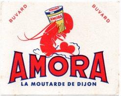 Buvard  Petit Format, Moutarde Amora, La Moutarde De Dijon. - Moutardes