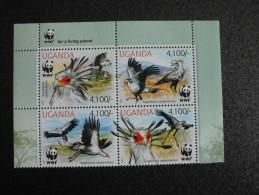 Uganda 2012 - WWF Secretarybird  (issue # 509) - W.W.F.