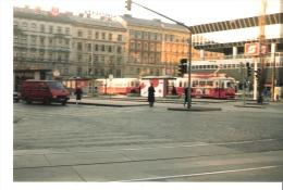 Photo Originale Foto Tram Strassenbahn Tramway- Wien ?-Vienne?-Österreich AUSTRIA-Autriche-dim. 13x8,8cm - Eisenbahnen