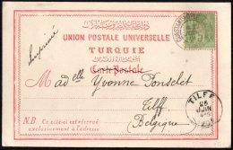 FRANCE - 5 C. Sage De CONSTANTINOPLE Pour TILFF (Belgique) - 2 Scans - Postmark Collection (Covers)