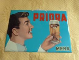 """Plaque Tôle """"BIERE PRIORA"""" - Liqueur & Bière"""