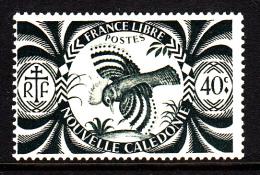 New Caledonia MH Scott #256 40c Kagu (bird) - New Caledonia