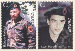 REPUBLIC OF KOSOVO 2016 Fallen Soldiers - Skender Rexhepi And Luan Haradinaj** - Kosovo