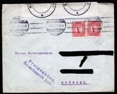 A3787) DR Brief Von Schweden 4.6.17 Nach Brüssel Mit Devisenkontrolle Hamburg - Deutschland