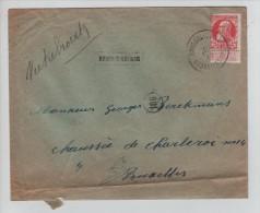 TP 74 S/L.c.Bruxelles Sud En 1909 + Griffe Encadrée Rhode St.Genèse V.E/V PR2745 - Postmark Collection