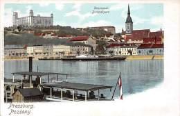 Pressburg, Pozsony, Donauquai, Dampfer, Dunarakpart - Slovaquie
