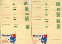 LOT DE 12 PUBLIBELS  METABO  . PLUS 1 PUBLIBELS  BAUKNECHT . - Stamped Stationery