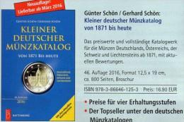 Kleiner Münz Katalog Deutschland 2016 Neu 17€ Numisbriefe+Numisblatt Schön Münzkatalog Of Austria Helvetia Liechtenstein - Supplies And Equipment