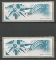 TIMBRES D´AFFRANCHISSEMENT DU LUXEMBOURG TD N° 3 - SERIE INDIVISIBLE (16 ET 22F) NEUFS SANS CHAARNIERE. - Postage Labels