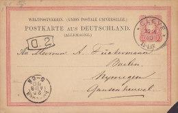 Germany Deutsches Reich UPU Postal Stationery Ganzsache 10 Pf CLEVE 1880 NIJMEGEN Netherlands (2 Scans) - Ganzsachen