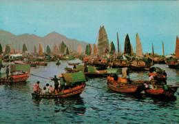 HONG-KONG   FLOATING  PEOPLE IN CASTLE PEAK BAY    (NUOVA) - Cina (Hong Kong)