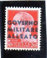 1943 Italia - Regno - Occupazione Anglo Americana (nuovo Linguellato) - Occup. Anglo-americana: Sicilia