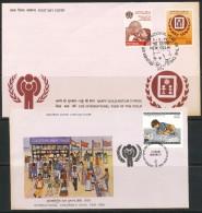 INDIEN -FDC   Mi.Nr.    784 - 785  + Sonderstempel - FDC