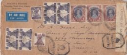India; Censored Cover To USA 1942 - 1936-47  George VI