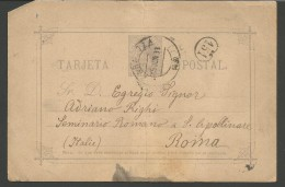IPE99---     TARJETA POSTAL,     ZARAGOZA---ROMA,  ITALIA,   1933, - 1889-1931 Regno: Alfonso XIII