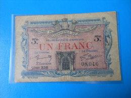 Var 83 Toulon Chambre De Commerce, 1ère Guerre Mondiale 1 Franc 3-3-1919 - Chamber Of Commerce