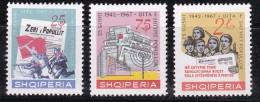 Albanie 1967 N°Y.T. :  1009 à 1011 ** - Albania