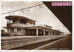 Stazione Ferroviaria Veduta Interno Anni 30 Viareggio - Stazioni Senza Treni