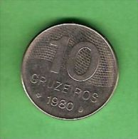 K571 Brasil 10 Cruzeiros 1980 - Brasile