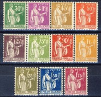 Francia 1922 - 23 Serie N. 280-289 MNH GO Catalogo € 325 - Ungebraucht