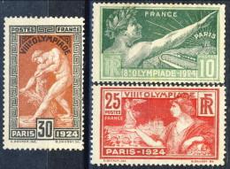 Francia 1924 N. 183-184-185 Olimpiadi Parigi Nuovi Con Tracce Di Gomma, Catalogo € 43 - Ungebraucht