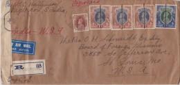 India; Censored Cover To USA 1945 - 1936-47  George VI