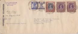 India; Censored Cover To USA 1945 - India (...-1947)