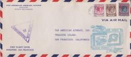 Strait Setelement  ; Censored First Flight Cover To USA 1941 - Straits Settlements