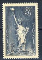 Francia 1937 N. 352 C. 50+25 Pro Rifugiati Politici MNH GO Catalogo € 8 - Francia
