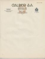 PAIS VASCO - GUIPUZKOA - SAN SEBASTIAN - CALBER S.A. Fabrica De Perfumeria ( Deposito MADRID )  PRIX FIXE - España