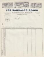 Pyrenées Atlantiques - MAULEON SOULE - Les Sandales GOUÏK - Etablissements BIDEGAIN   PRIX FIXE - Vestiario & Tessile