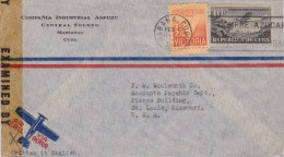 Cuba; Censored Cover To USA 1944 - Kuba