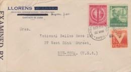 Cuba; Censored Cover To USA 1945 - Cartas