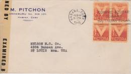 Cuba; Censored Cover To USA 1945 - Cuba