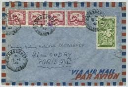 Enveloppe 1949 Par Avion De Savannakhet (Laos) à Paris. - Briefe U. Dokumente