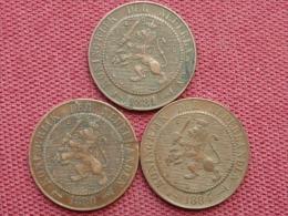 PAYS BAS Lot De 3 Monnaies De 2,5 Cts Voir Années - [ 3] 1815-… : Royaume Des Pays-Bas