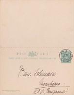 East African Protectorate; Local Double Postal Card 1907 - Protectorados De África Oriental Y Uganda