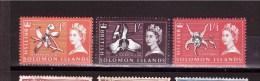 SOLOMON ISLANDS 1965 Odd Value Definit. Issue  Yvert Cat N°111-118-119 Mint Hinged - Solomon Islands (1978-...)