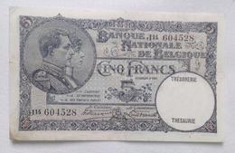 Belgium 5 Francs 1938 - [ 2] 1831-... : Belgian Kingdom