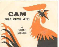 PETIT CALENDRIER 1962-CAM-CREDIT AGRICOLE MUTUEL-Ft-7.5 X 9.5Cm-TBE- - Calendriers