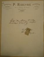 Facture Ancienne  Nancy - P. Ribeyre   (46) - Ambachten
