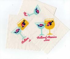 6 Napkins Of HOLLAND-AMERICA Line - Tovaglioli Bar-caffè-ristoranti
