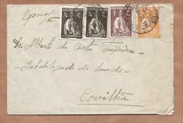 1919 Carta Circulada Com 4 Selos CERES Enviada De PENAMACOR Para COVILHA Portugal - 1910-... République