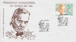 Enveloppe  FDC  1er  Jour  ANDORRE   ANDORRA   EUROPA   Docteur   FLEMMING   1994 - Europa-CEPT